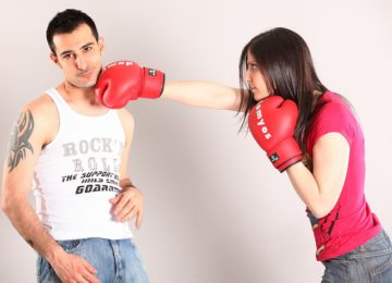 A fight with the husband