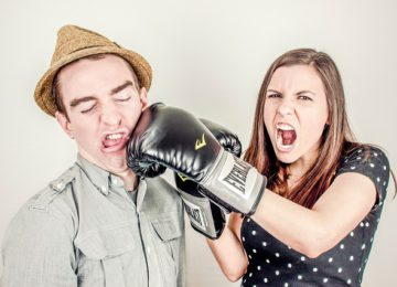 Husband and wife are fighting