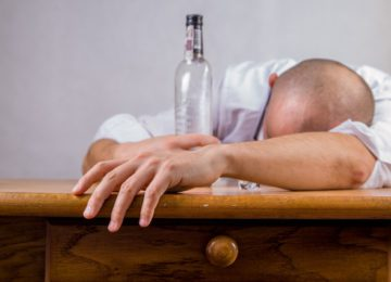 Husband wakes up after heavy drinking