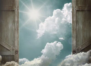 A man knocks on the door of paradise